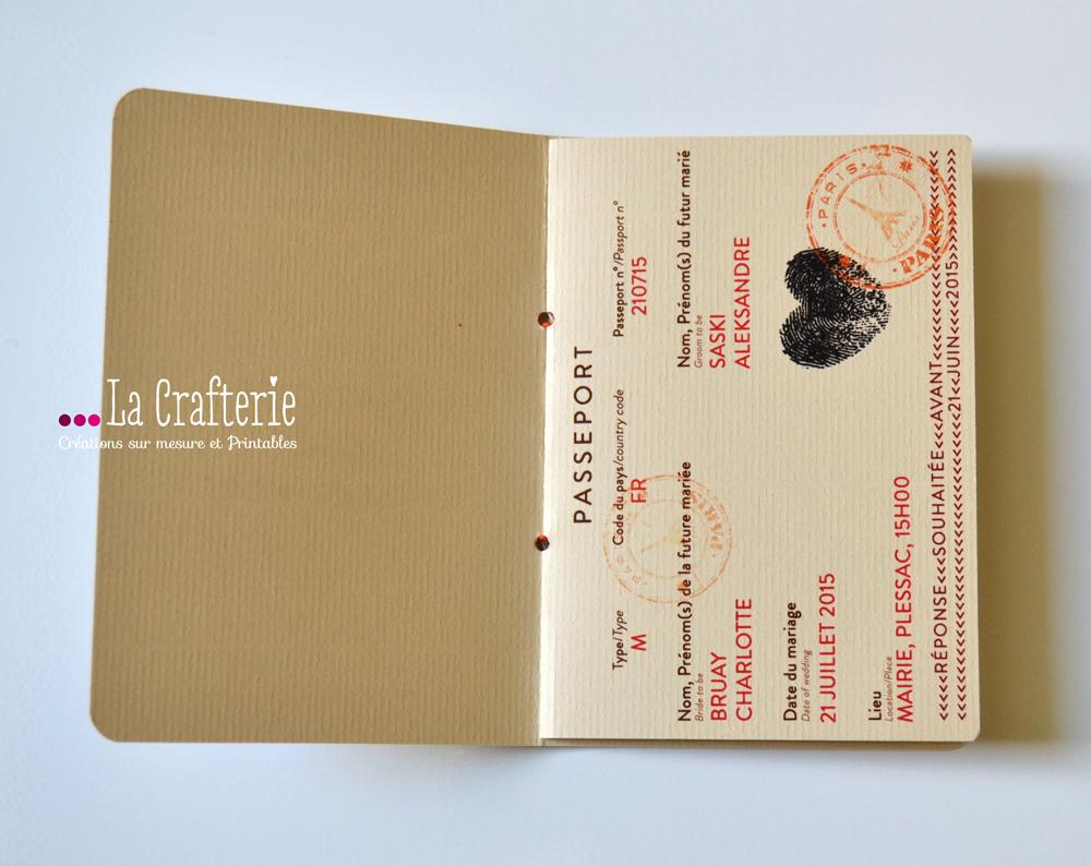 diy faire part passeport mila a imprimer la crafterie. Black Bedroom Furniture Sets. Home Design Ideas