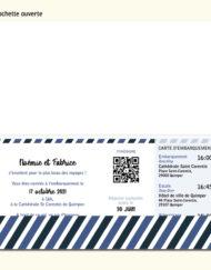 Faire-part Mariage billet d'avion