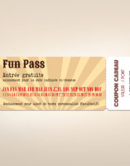 Ticket d'invitation fête foraine