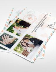 Carte de remerciement Mariage, thème voyage