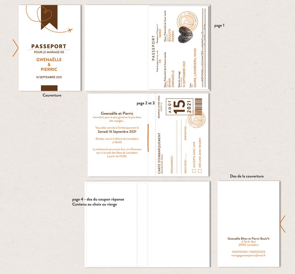 Diy Faire Part Passeport Mila A Imprimer La Crafterie