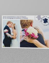 Carte de remerciement Mariage thème voyage