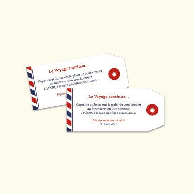 Etiquette bagage invitation Mariage