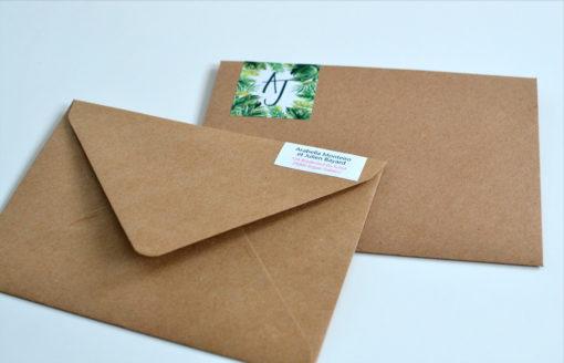 Etiquette d'adresse pour enveloppe