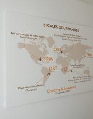 Grande affiche Menu Mariage, thème voyage
