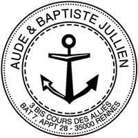 Tampon adresse theme marin
