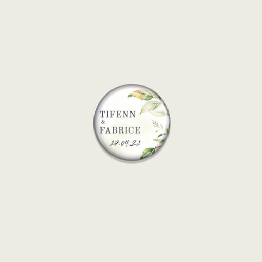 Badge personnalisé Mariage