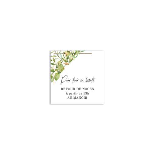 Carton d'invitation Mariage