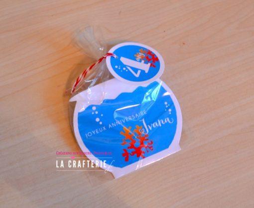 Sachet bonbons d'anniversaire rhème aquarium. Fichier à imprimer
