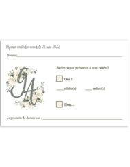 Carte réponse Mariage