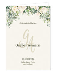 Couverture Livret de cérémonie de mariage