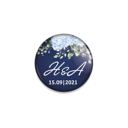 Badge personnalisé mariage, cadeau d'invité