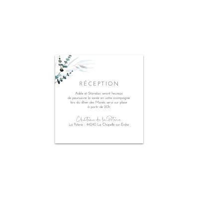 Carton d'invitation Mariage Eucalyptus