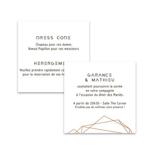 Carton d'invitation Mariage Industriel