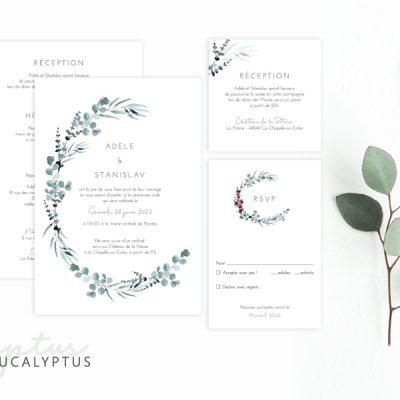 Faire-part Mariage Eucalyptus