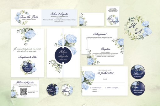 Collection faire-part Mariage Hortensia