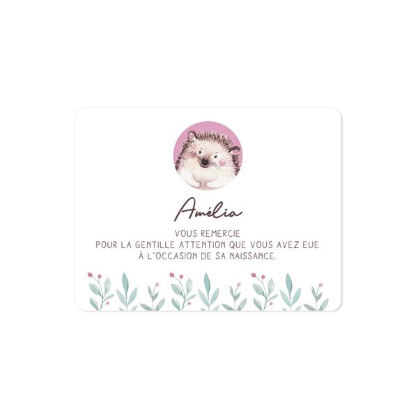 carte-remerciement-naissance-herisson