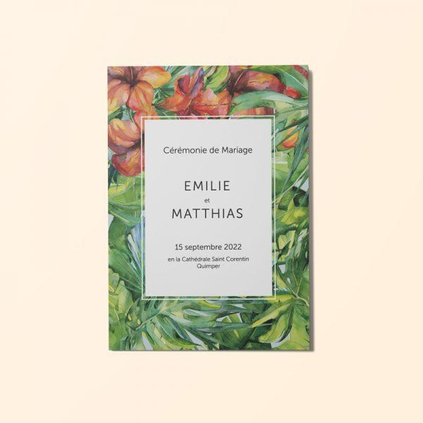 livret-ceremonie-mariage-hibiscus-couverture